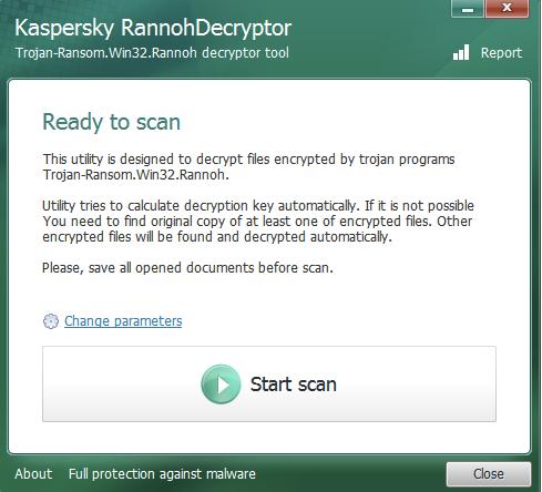 卡巴斯基「.crypt」檔案免費解密工具