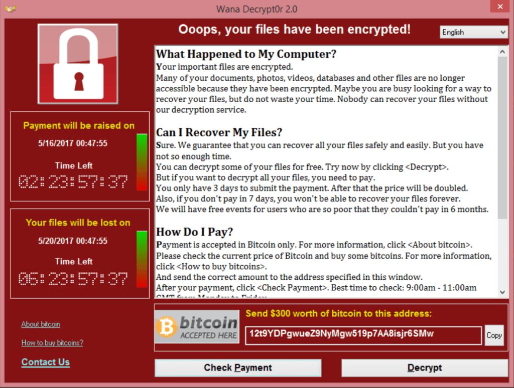 WannaCry加密勒索漫延全球 防護貼士由認識病毒開始